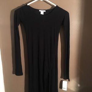 Bar III long sleeve black maxi dress